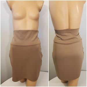 Bloom Tan/ Nude High-waisted Skirt